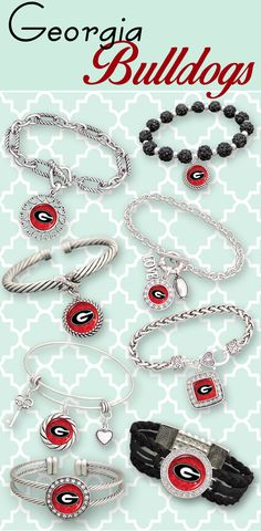 Celebrate Game Day with Georgia Bulldogs Bracelets! More styles are available as well  as Necklaces, Earrings, Watches, Sunglasses and MORE! // ON SALE NOW!