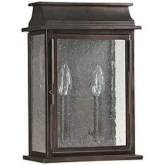 """Capital Bolton 13 3/4"""" High Old Bronze Outdoor Wall Light"""