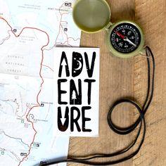 Vinyl Sticker - Adventure by BorealisAdventureCo on Etsy https://www.etsy.com/listing/262831699/vinyl-sticker-adventure