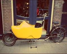 A clog-like bike found in the streets of Amsterdam.