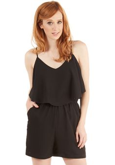 7f4609217134 Haute With a Bang Romper. Ring in your last night of vacation in this jet