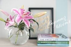 beginner blooms:Fresh Flower arranging lessons 1-4 (scroll to bottom of page for first lesson)