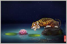 Lotus at night