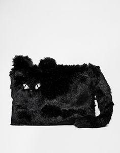 Enlarge New Look  Furry Cat Clutch Bag