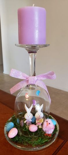 OsternOsternHow to Make an Easter Wine Glass Candle Holder glass crafts to make and sellHow to Make an Easter Wine Glass Candle Holder glass crafts to make and Ideen zum Verzieren von Ostern mit Wine Glass Candle Holder, Diy Candle Holders, Easter Projects, Easter Crafts For Kids, Diy Projects, Wine Glass Crafts, Bottle Crafts, Spring Crafts, Holiday Crafts