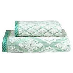 Bath Towels Geo Ikat Green - Threshold™ at Target. Affiliate link.