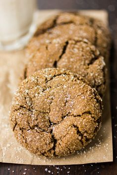 Gluten-Free Chewy Ginger Molasses Cookies with inspiration from Alice Medrich and Baking Illustrated: If you can, start these cookies a day (or even two) ahead; the dough benefits from a day of chilling, resulting in thicker, chewier, smoother cookies. | The Bojon Gourmet
