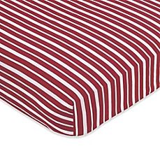 image of Sweet Jojo Designs Pirate Treasure Cove Fitted Crib Sheet in Stripes