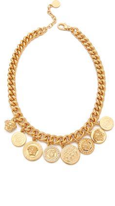 Versace ~ Medusa Coin Necklace