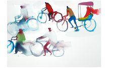 Lara Harwood Bicycles watercolor