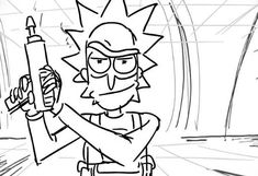 rick and morty coloring page cartoon