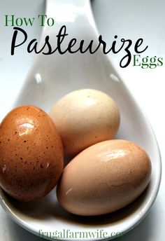 how to pasteurize eggs. This is great for those recipe that use raw eggs - like homemade mayonnaise!
