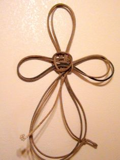 Western Rope Cross by RockinEBoutique on Etsy
