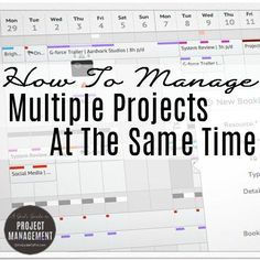 negotiating and managing multiple projects Handling several projects at once means more than dealing with just multiple schedules it involves multiple risks, multiple stakeholders, and multiple functional.