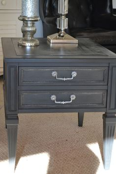 annie sloan paint graphite House of Babs End Table Makeover