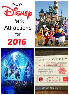 New Disney Park Attractions for 2016   If you have been wanting to take the family to Disneyland or Disney World, 2016 may be the year for you!  Disney has been busy with all kinds of new and creative rides and fun for everyone in your family!  Check out these 10 great new attractions that are coming your way in 2016!