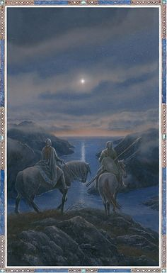 """""""Surely that is a Silmaril that now shines in the West?"""" by Alan Lee"""