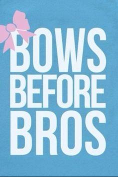 "big/little tee shirt idea ~ color coordinated ""bows before bros"" tanks! Sorority Sugar, Sorority Life, Sorority Row, Sorority Letters, Sorority Crafts, Alpha Chi Omega, Alpha Sigma Alpha, Delta Gamma, Theta"