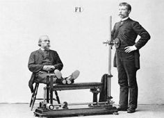 Fancy a go on the old exercise belt? These antique machines, modeled by formally outfitted ladies and gentlemen, would probably be considered torture devices today. Vibrate the fat away!