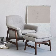 Select living room chairs from west elm to offer comfortable seating in your home.