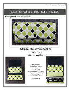 Cash Envelopes Wallet SEWING PATTERN PDF Cash Budget System