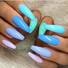 82 Trendy Acrylic Coffin Nails Design For Long Nails For Summer - Latest Fashion. - 82 Trendy Acrylic Coffin Nails Design For Long Nails For Summer – Latest Fashion Trends For Woman – Nails Design # Coffin Nails Long, Long Nails, Long Cute Nails, Super Cute Nails, Fabulous Nails, Gorgeous Nails, Perfect Nails, 40 And Fabulous, Nail Design Spring