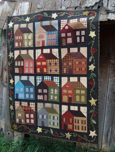 Country Homecoming quilt by Nancy Cobler. The pattern is from the book Primitive Gatherings by Terry Burkhart & Rozan Meacham.