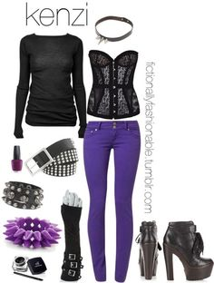 Kenzi by fictionallyfashionable featuring a black belt Finally, I managed to do Kenzi justice. She is my favorite character on Lost Girl. I ...