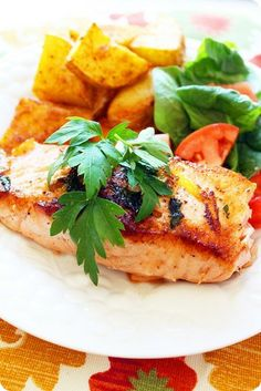 citrus herb salmon, yum!