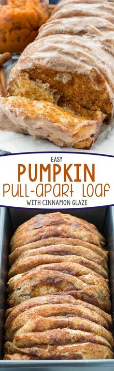 Easy Pumpkin Pull-Apart Loaf with Cinnamon Glaze Recipe   Crazy for Crust