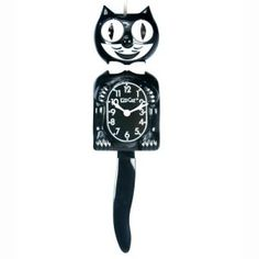 Classic Black Kit Cat Wall Clock - 4W x 15.5H in. -  $49.99   hayneedle.com