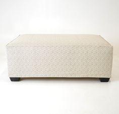Quatrine Custom Furniture - Exposed Leg Ottoman #slipcovered #rectangular #custom