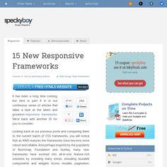 15 Responsive CSS Frameworks
