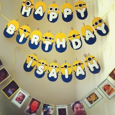 Birthday Minion Banner #minions #happybirthday
