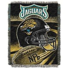 "Free Ship NFL Jacksonville Jaguars 48"" X 60"" Jacquard Acrylic Throw"