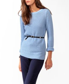 Chunky Purl Knit Sweater | FOREVER 21 - 2027704583