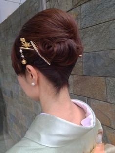 Vintage Hairstyles, Bun Hairstyles, Up Styles, Long Hair Styles, Hair Arrange, Japanese Hairstyle, Hair Reference, Asian Hair, Japanese Kimono