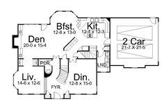 European House Plan 72085 Level One