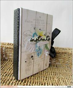 Un mini album . Mini Albums Scrapbook, Scrapbook Cards, Arts And Crafts, Paper Crafts, Diy Crafts, Agenda Bullet, Tutorial Scrapbook, All Paper, Handmade Books
