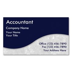 Accountant Business Cards. Make your own business card with this great design. All you need is to add your info to this template. Click the image to try it out!
