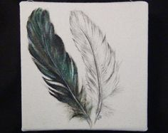 feather painting on canvas - Google Search