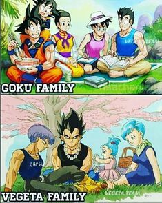 Which one you choose? Goku Family or Vegeta Family
