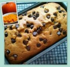 MyFridgeFood - Chocolate Chip Pumpkin Bread