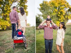 1 Year shots with Radio Flyer Wagon    Sarah Hill Photography