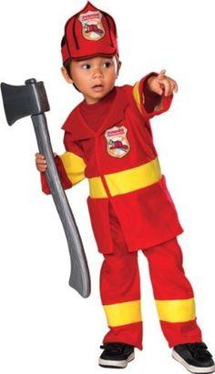 Toddler Halloween Costume Firefighter Fireman Toddler (12-24 months) . $16.38