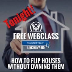 Webinar is tonight in 1 Hour Link in my bio @millionaire_mentor Learn How to Harness the power of Modern Home Flipping Strategies  to make thousands of dollars  without owning a single property! What You'll Learn On This FREE Training Webclass: ✔️The break down of the unique Single Family Triad* (don't know what that means? Register now) ✔️How to get your first few wholesale deals done with profits of $5,000 - $10,000 within 30 days of starting ✔️The difference between Real Estate…