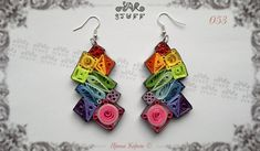 Quilled Paper Dangle Earrings Fashion Jewelry