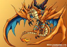 006 - Mega Charizard Y FR by MegaPokemon on DeviantArt Mega Charizard, Mythological Animals, Satoshi Tajiri, Father Images, Pokemon Fusion, Furry Art, Fantasy Creatures, Mythology, Science Fiction