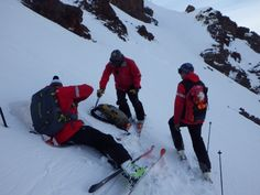 Ski patrol check out the snowpack in myriad conditions that exist throughout the resort.