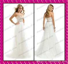 2014 White Tulle Beach Prom Party Dresses Strapless Prom Dresses   Buy Wholesale On Line Direct from China